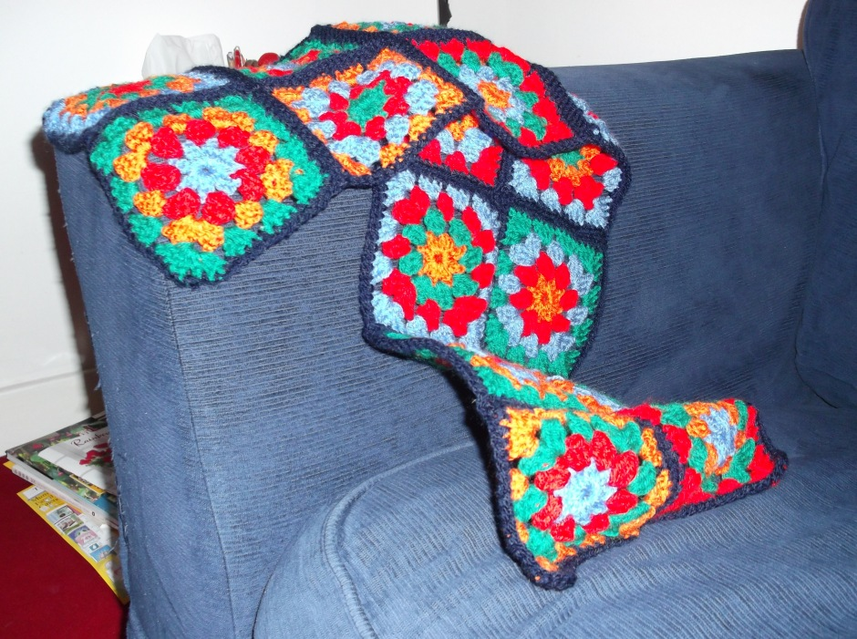 joined summer garden granny squares