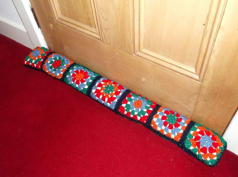 granny square draught excluder