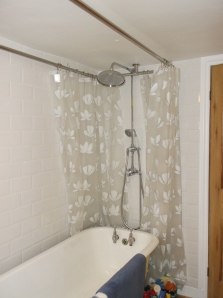 shower with curtain