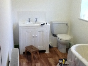 undercoated bathroom