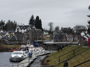 Staircase locks at Fort Augustus