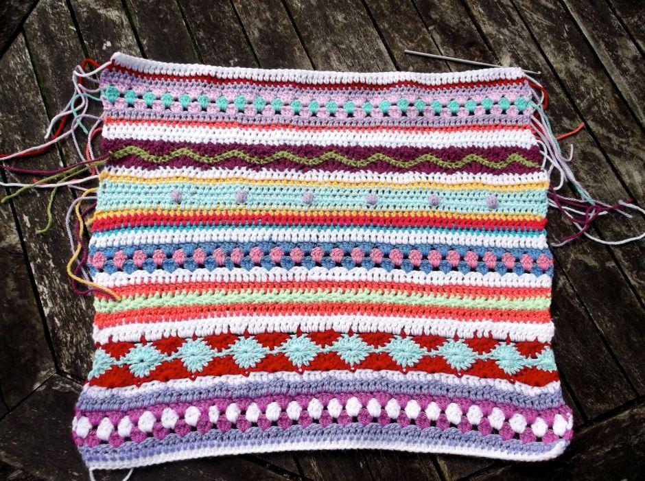 Stripy Cushion Cover progress