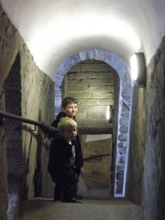 Exploring the castle.