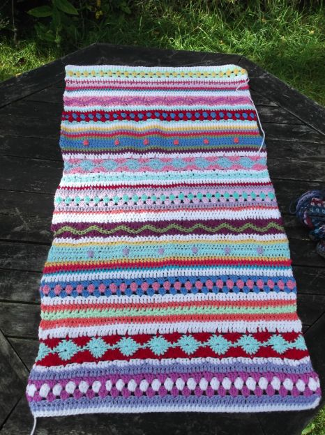 Completed Stripey Cushion piece