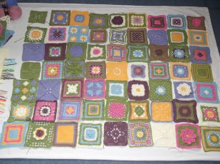 Cottage Garden CAL blanket planning.