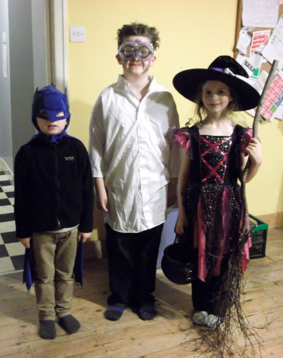 Batman, The Mad Scientist and The Witch.