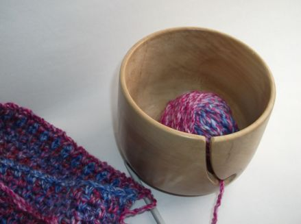 a bowl of yarn