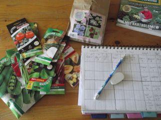 Garden planning.
