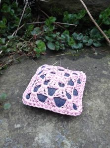Completed Granny at the Pictures pincushion