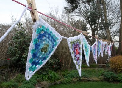 Completed bunting.