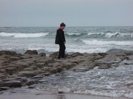 At the beach.