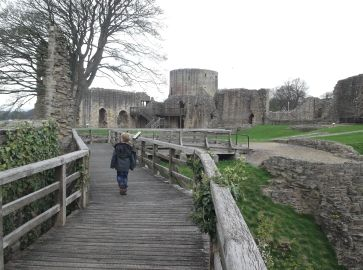 Exploring the Castle at Barnard Castle.