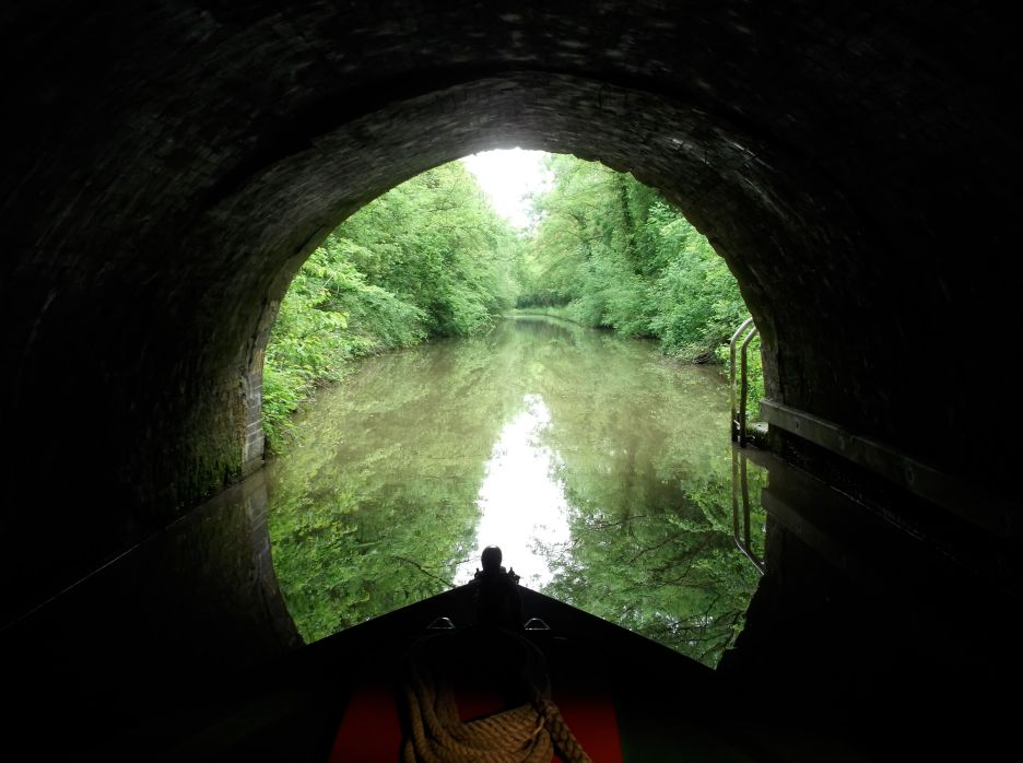 Dunhampstead Tunnel on the Birmingham and Worcester Canal.