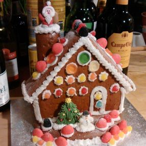 2014's gingerbread house.