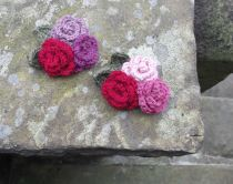 3. Crochet Rose Brooches