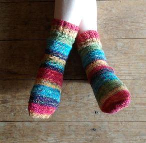 LJ's completed socks.